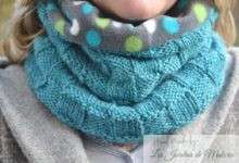 Snood au point de damier