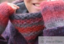Snood et mitaines Atmosphera rouge