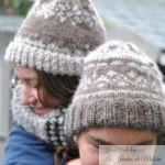 """Longue écharpe """"Clotilde"""" et bonnet en alpaga"""
