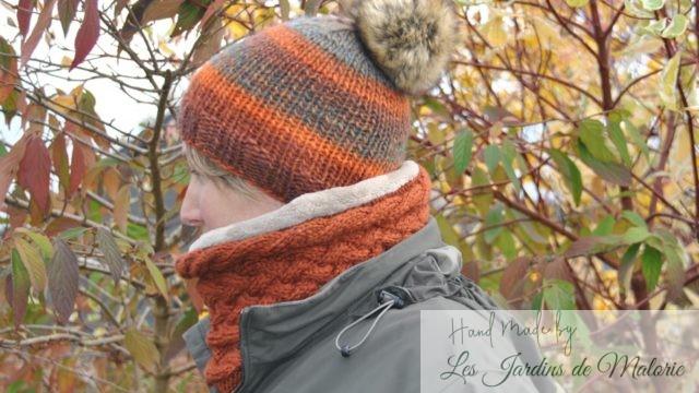 Snood couleur d'automne