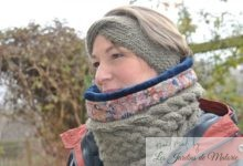 Snood triple torsade kaki