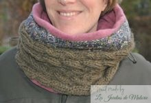 "Snood triple torsade ""Brigitte"""