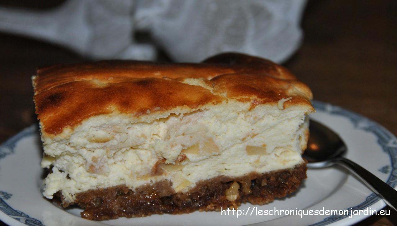 Gourmandises : Tarte au fromage frais et aux poires